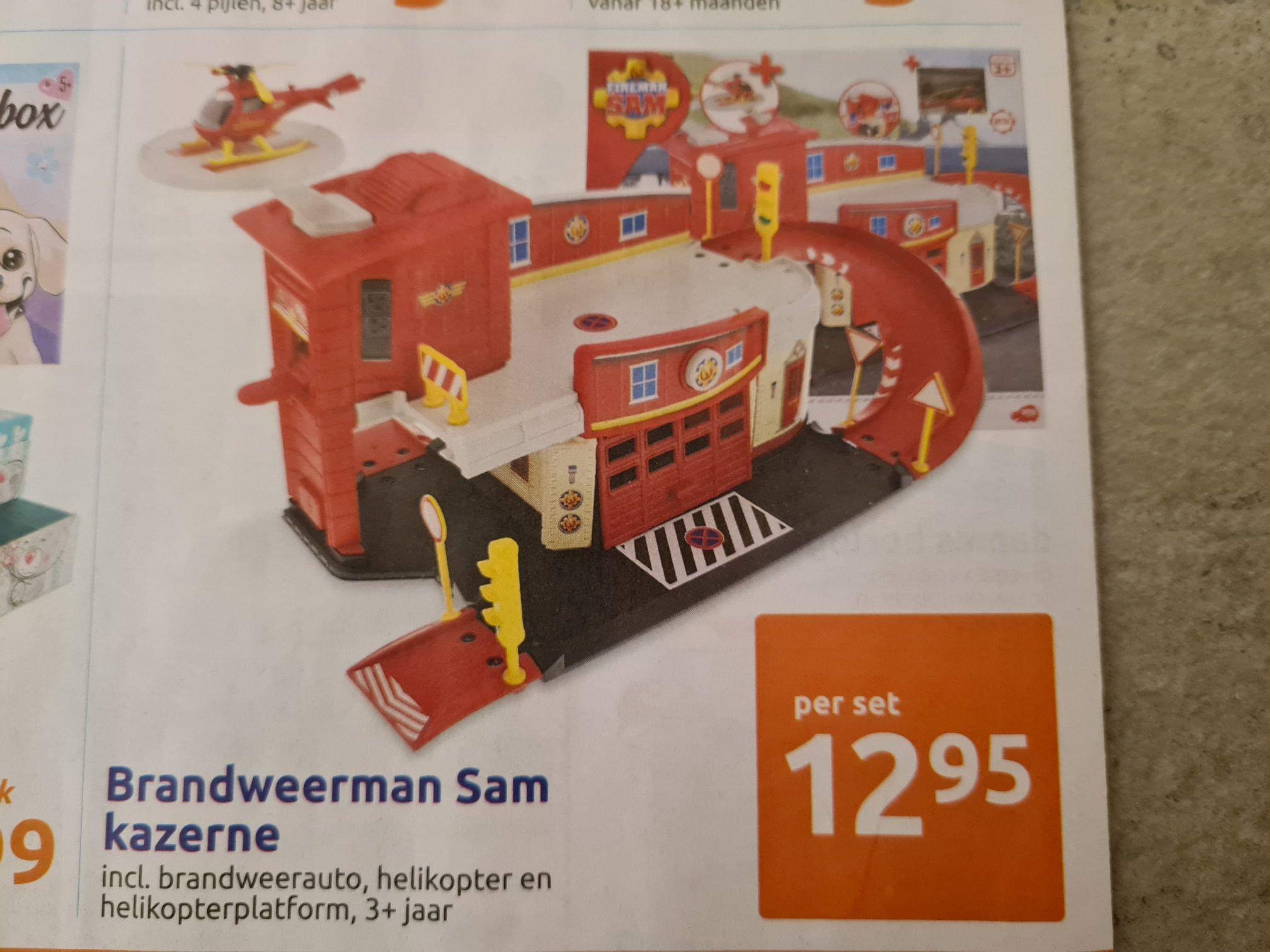 Brandweerman Sam kazerne voor 12,95 bij Action (18-11)