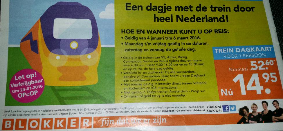 Dagje treinen door Nederland