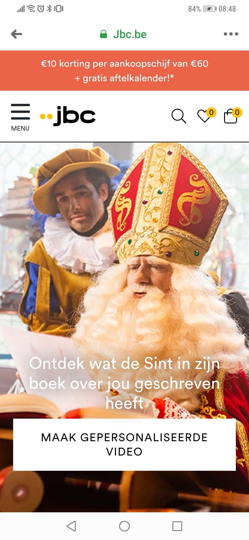 Gratis, gepersonaliseerde video van de Belgische Sint en pieten