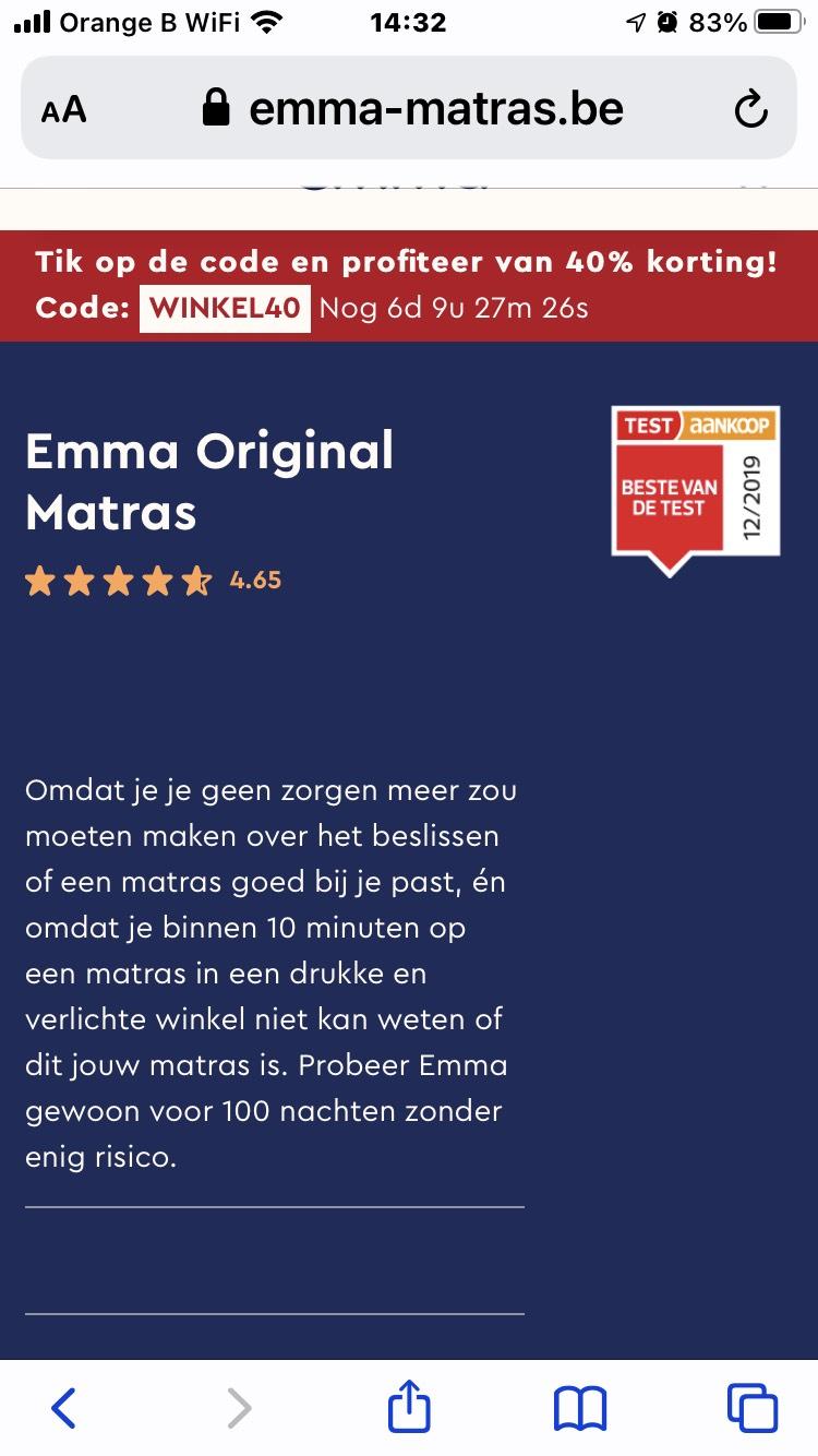 [België] 40% korting op alles bij Emma
