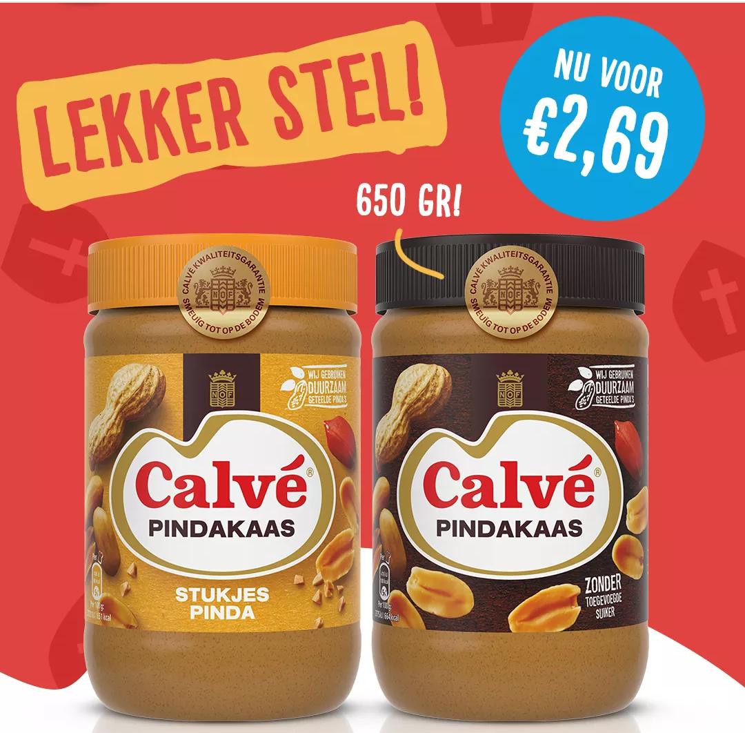 650 gram Calvé Pindakaas voor €2,69 bij Albert Heijn