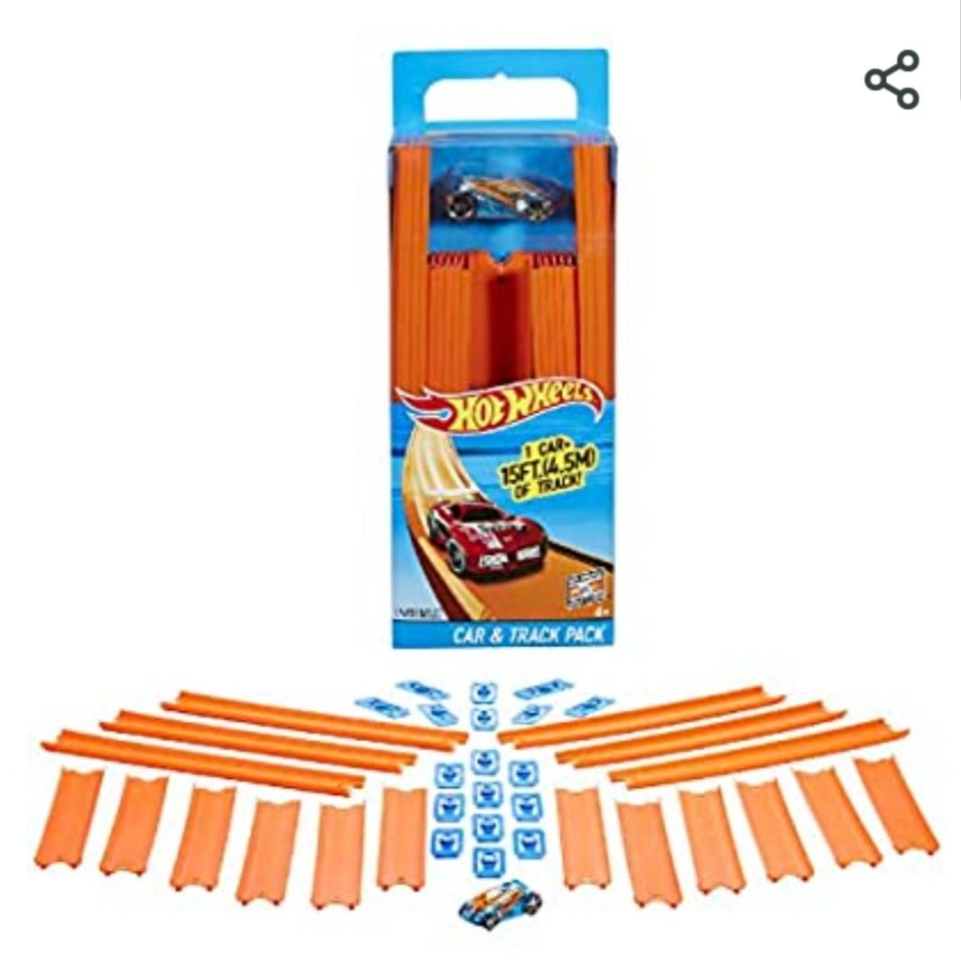Hotwheels Trackbuilder met Auto 11,99 bij Amazon.nl