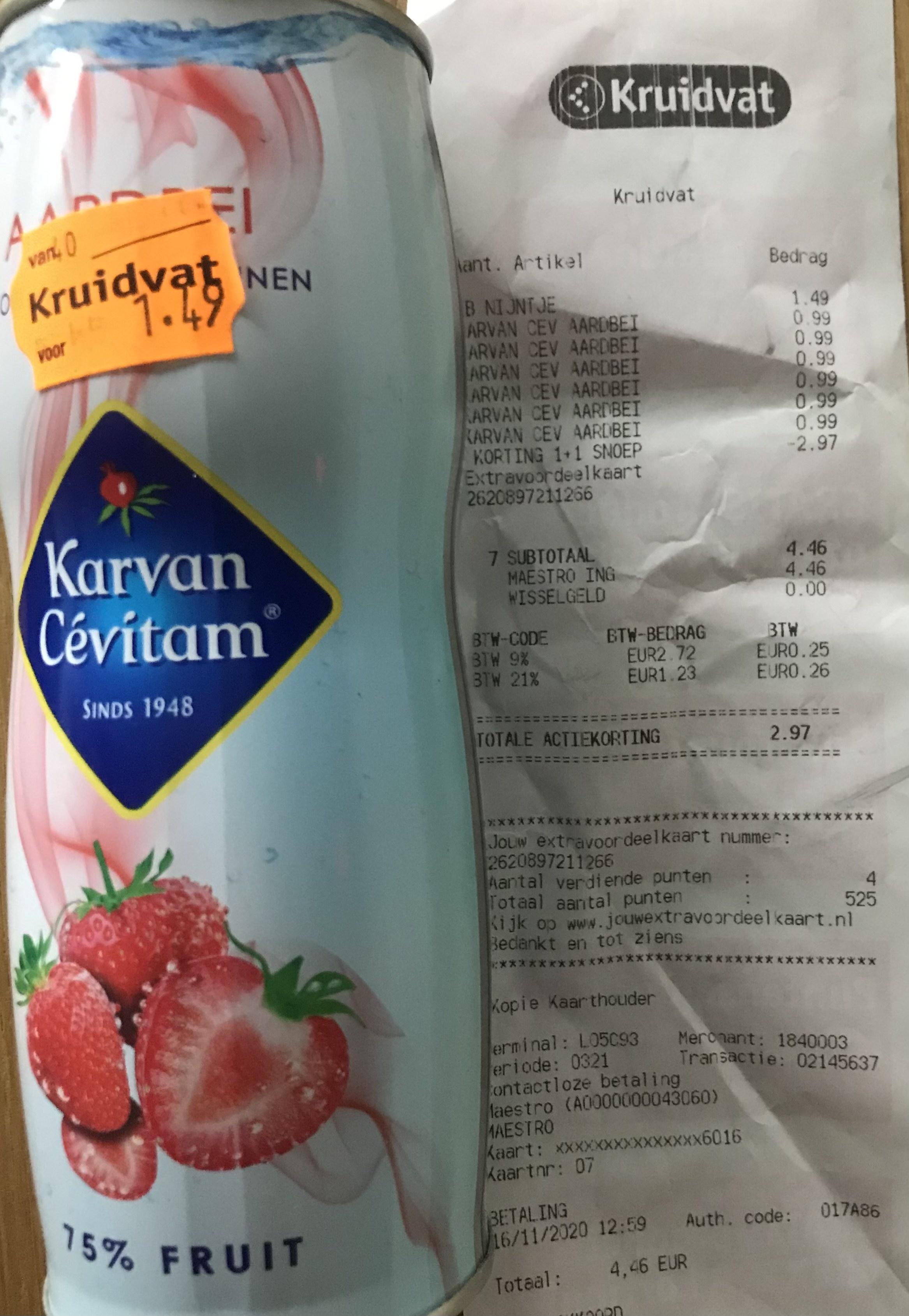 @Kruidvat: Karvan Cevitam 430ml 0,50 cent per stuk! Landelijk?