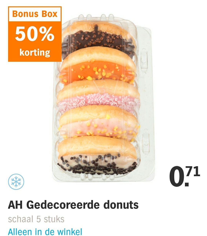 Ah Bonus Box 5 stuks gedecoreerde donuts