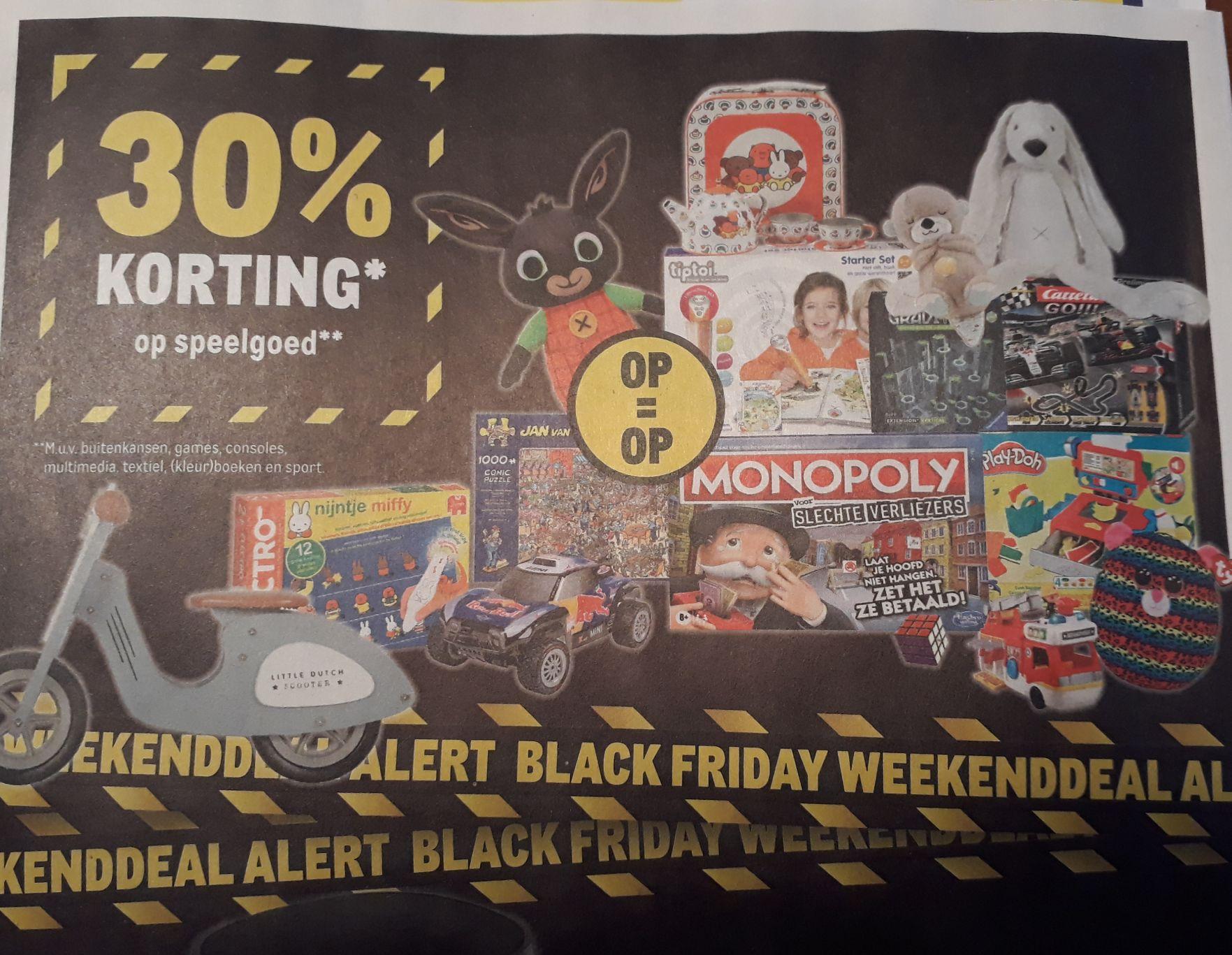 30% korting op al het speelgoed (o.a lego en bord/kaartspellen) @makro black friday deals