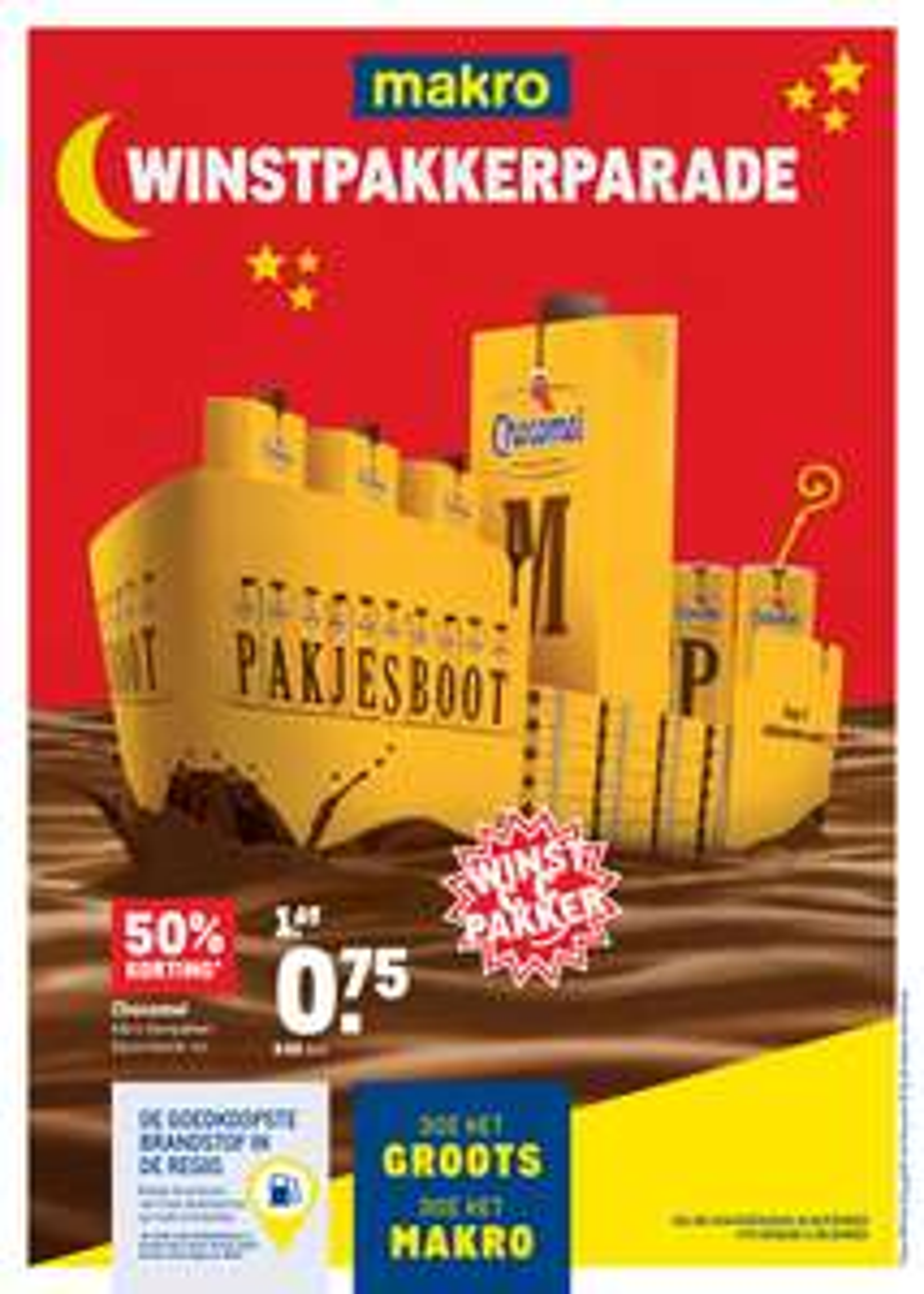 Chocomel voor €0,82 per pak (1L) @Makro