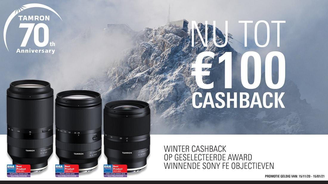 Tamron Winter Cashback op Sony Mount