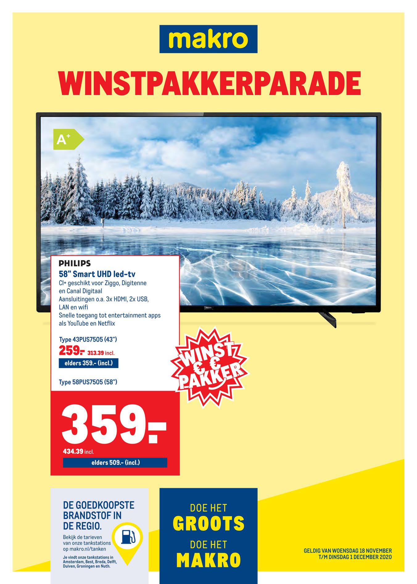 """Philips 58"""" TV 58PUS7505"""