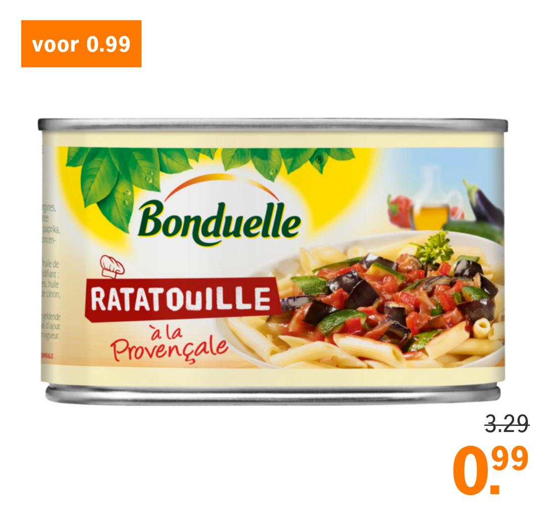 Bonduelle Ratatouille voor €0,99 (AH)