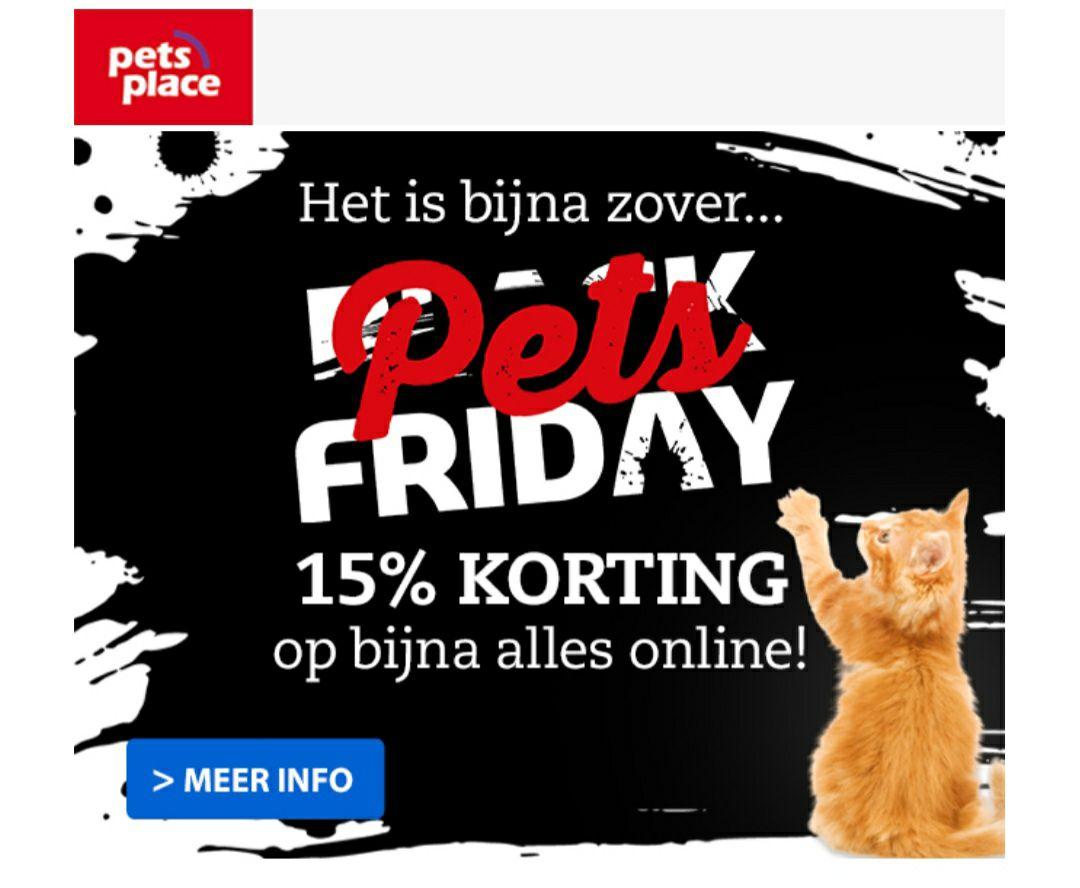 15% korting bij Pets Place en Boerenbond