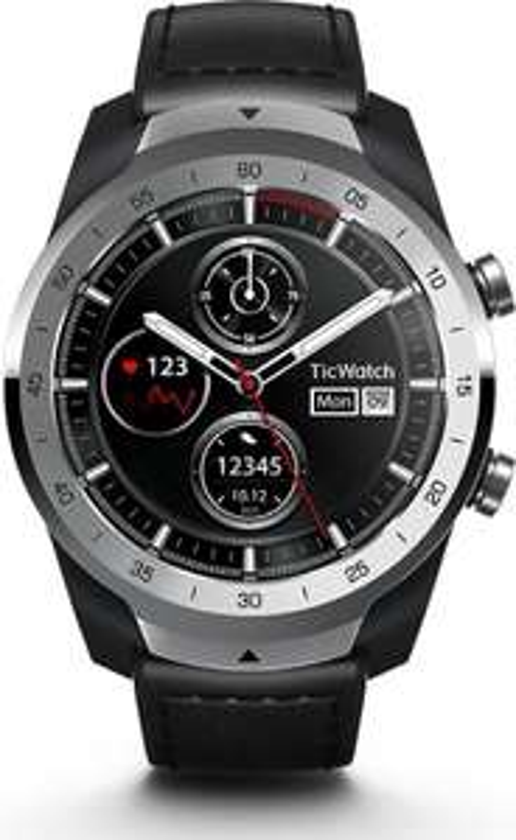 (Bol.com) Mobvoi Ticwatch Pro Zilver (Zwart)