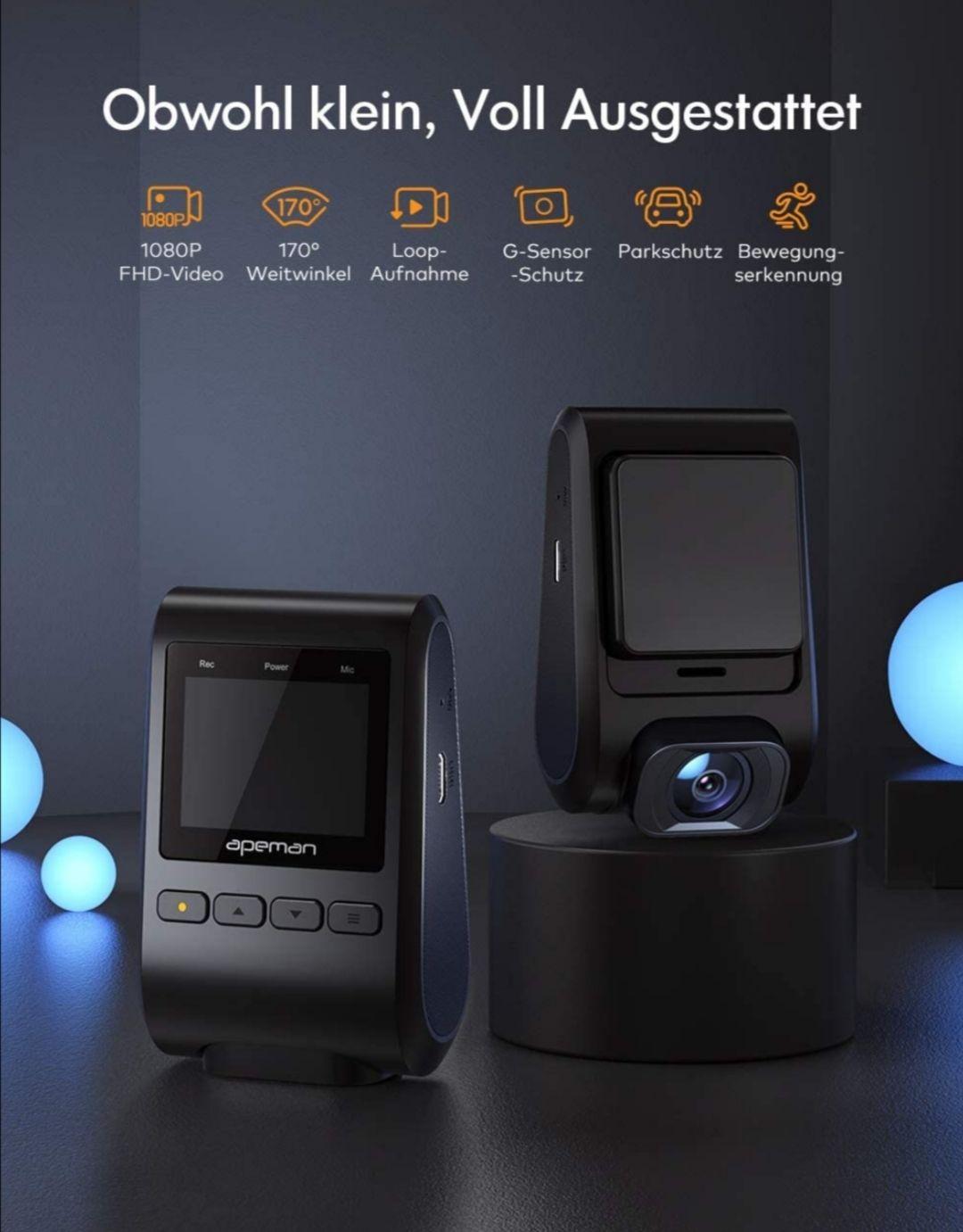 Apeman C370 FULL-HD mini dashcam