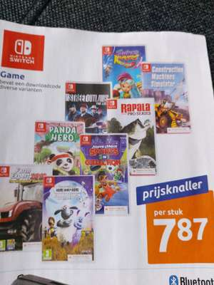 Nintendo Switch spellen (downloadcode) @Action