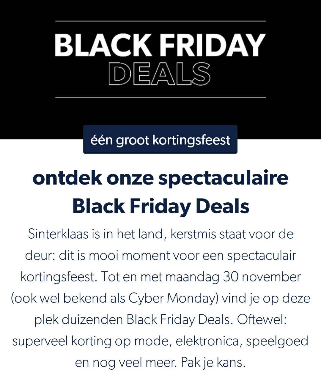 [Black Friday] Wehkamp's Black Friday van start in de app