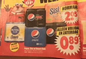 Dirk aanbieding 4-pack blikjes Pepsi, Sisi OR royal club