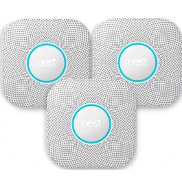 Nest Protect rook- en koolmonoxidemelder 2e generatie 3-pack (batterij)