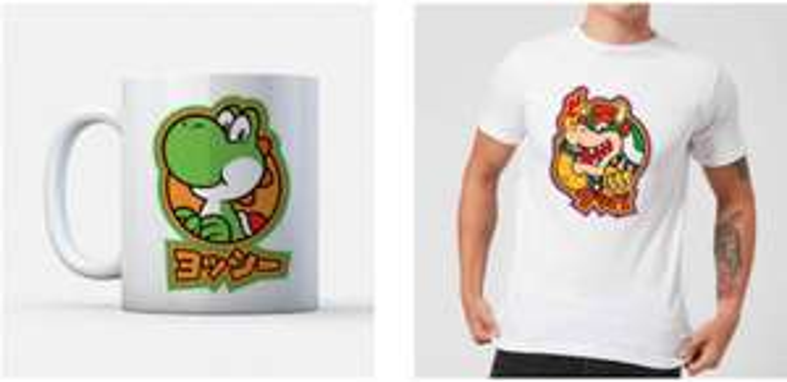Nintendo T-shirt & mok bundel voor €9,99 @ Zavvi