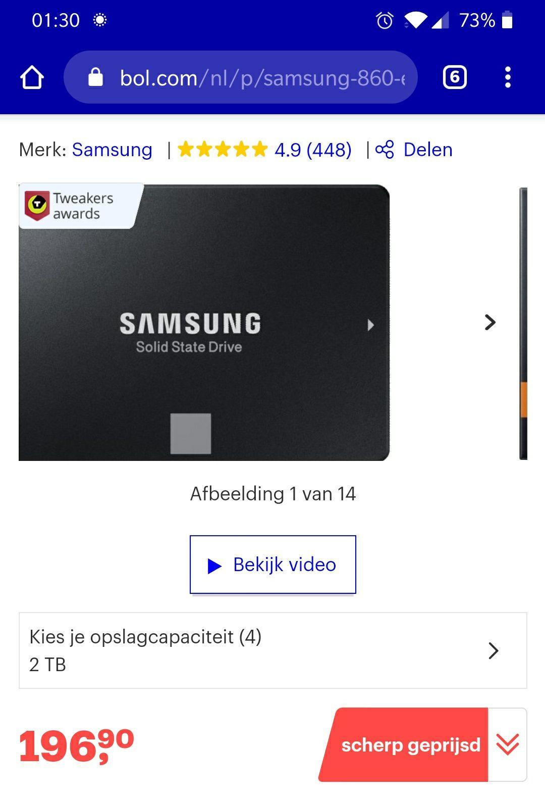 Samsung 860 2TB SSD