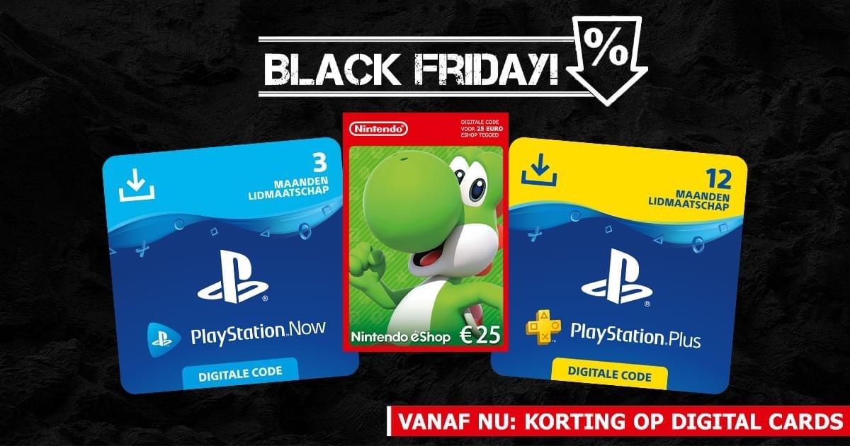 Digital Black Friday Deals PlayStation Plus en Nintendo eShop - Game Mania