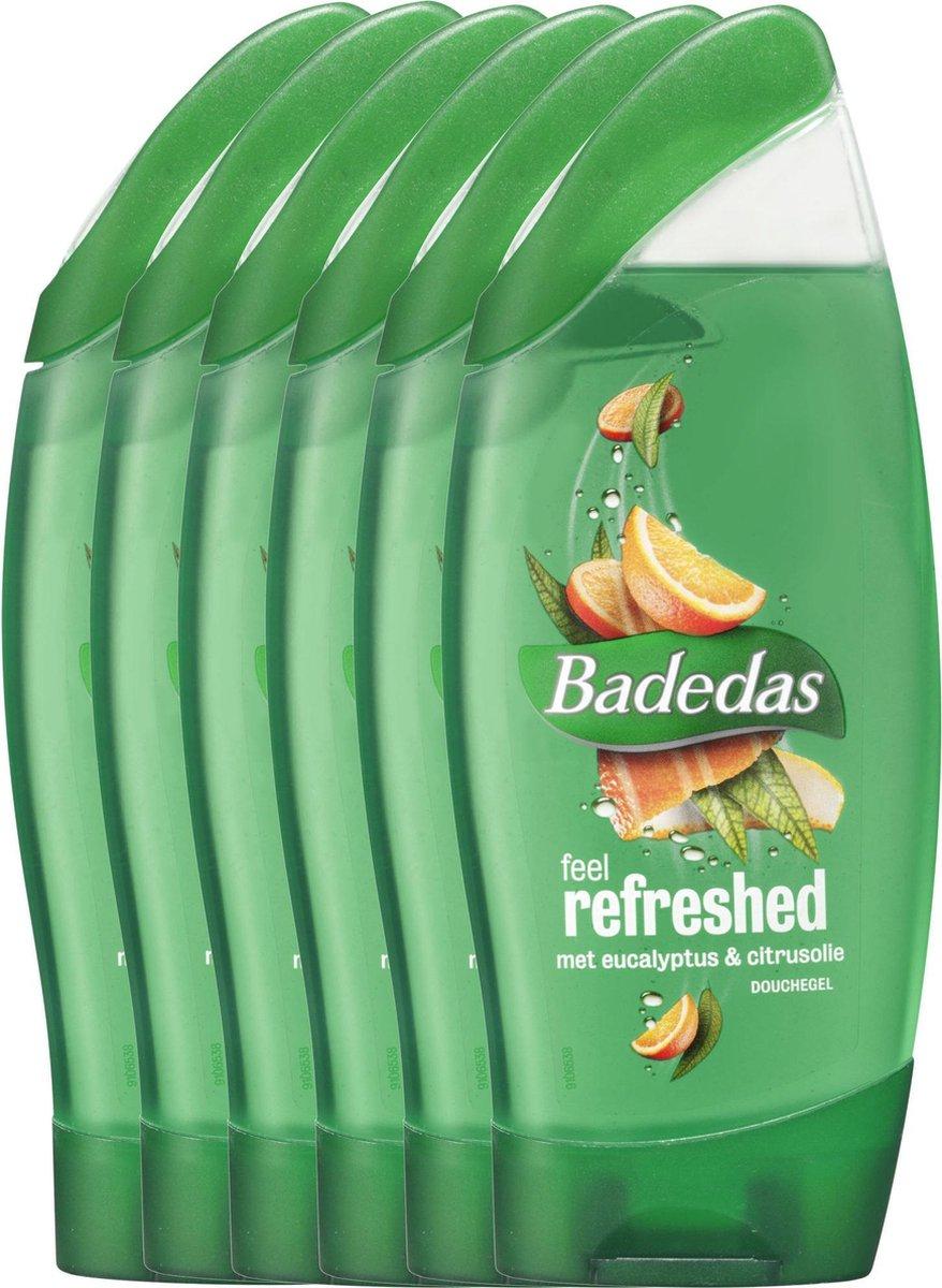 Badedas feel awake & feel refreshed 6x250ml voordeelverpakking