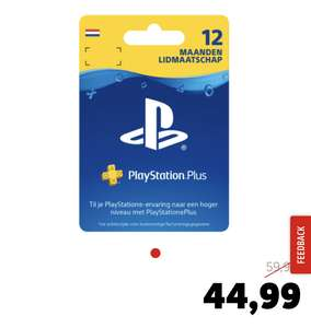 PlayStation Plus 12 maanden (-25%)
