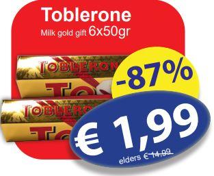 6 * 50g Toblerone €1,99 @ Die Grenze