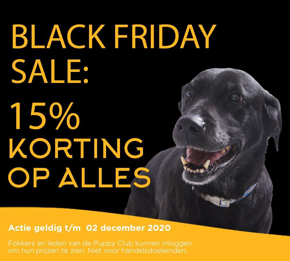 Bij Fish4Dogs 15% Black Friday korting. Te combineren met 20% nieuwe klant korting.
