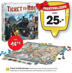 Ticket to ride europe bordspel (met gratis verzending!) @top1toys
