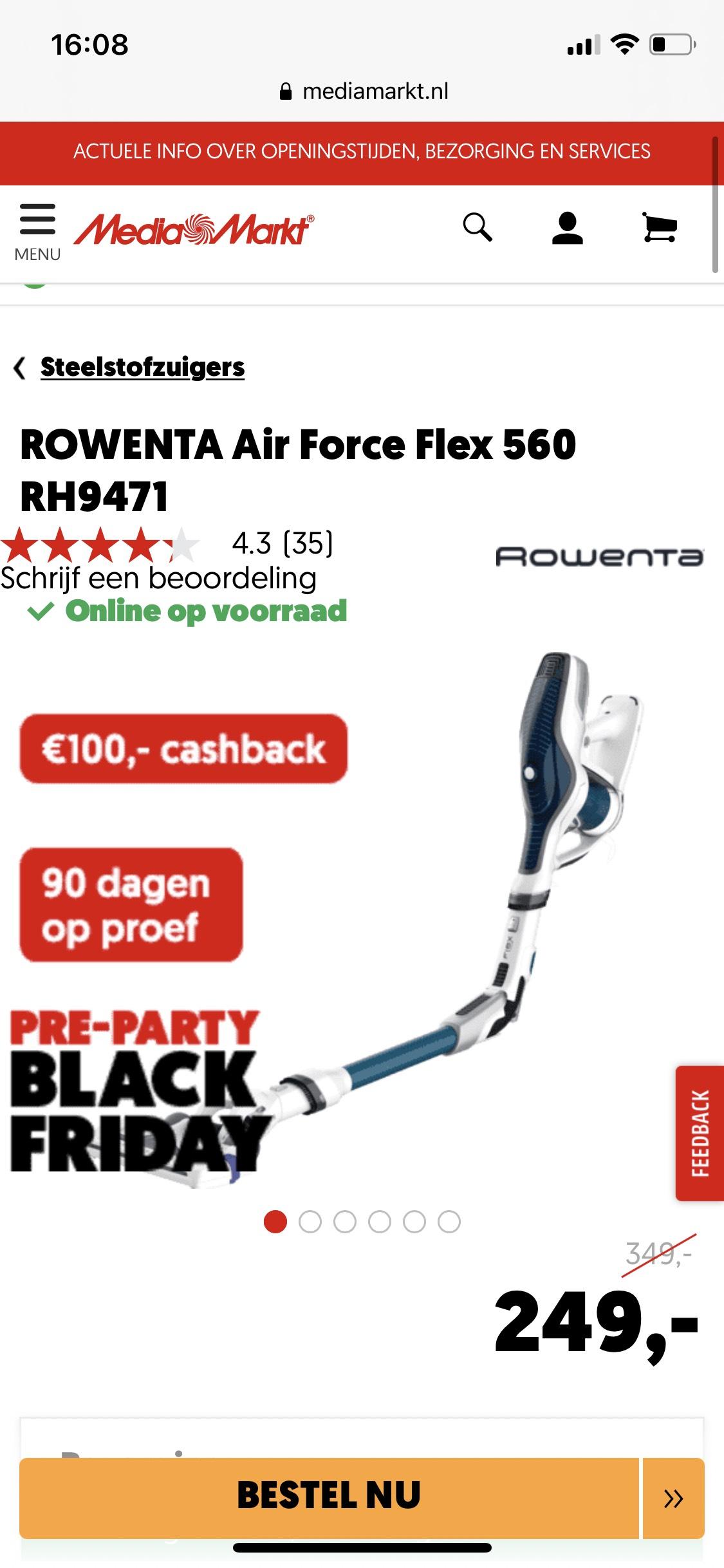 ROWENTA Air Force Flex 560 RH9471