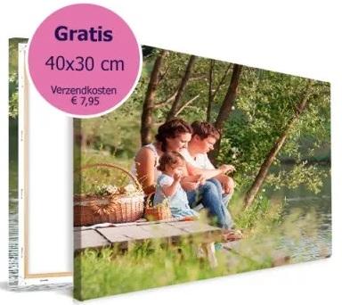 Canvas van 40x30cm voor €0 + €7,95 verzending