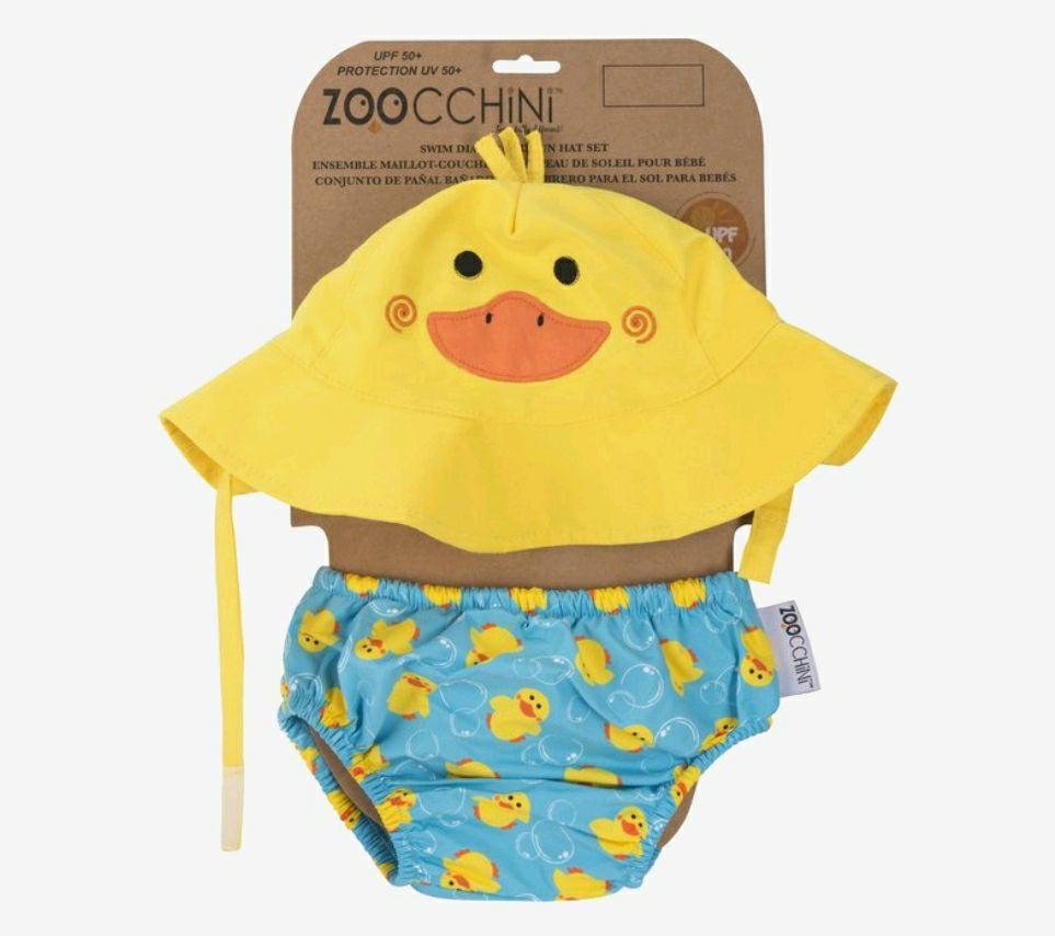 Zoocchini zwemluier & zonnehoedje Eend M (6-12 mnd)