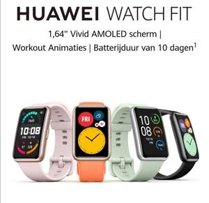 Huawei Fit watch + freelace bluetooth oortjes