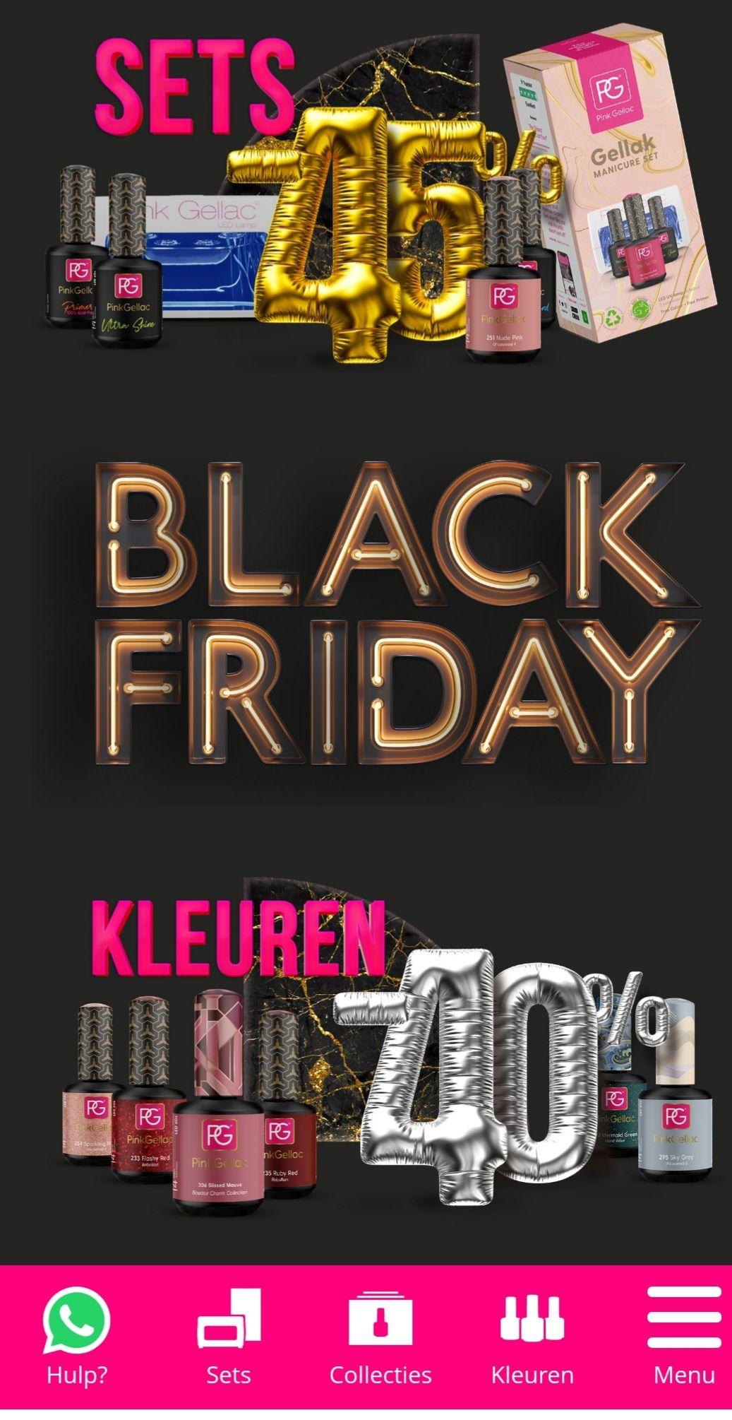 Pink Gellac Black Friday korting