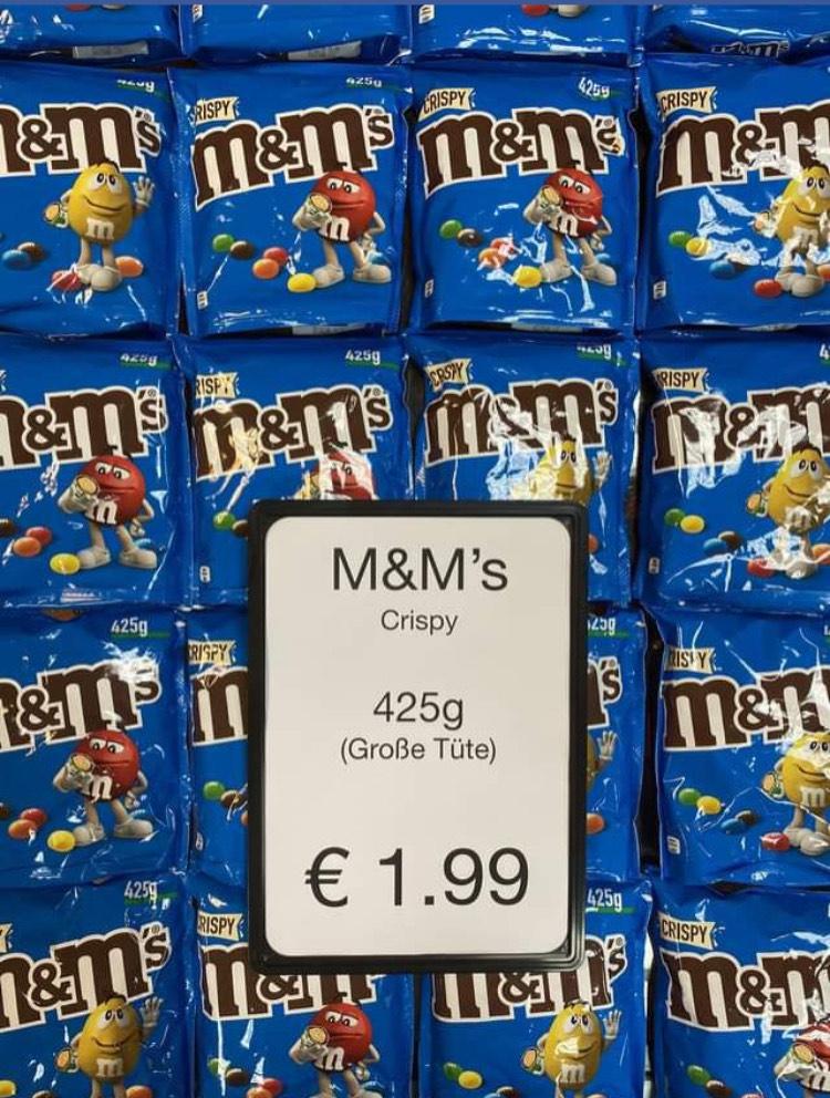 Grensdeal grote zak Crispy M&M's (425g)