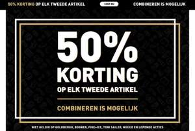 2e artikel 50% korting Black Friday
