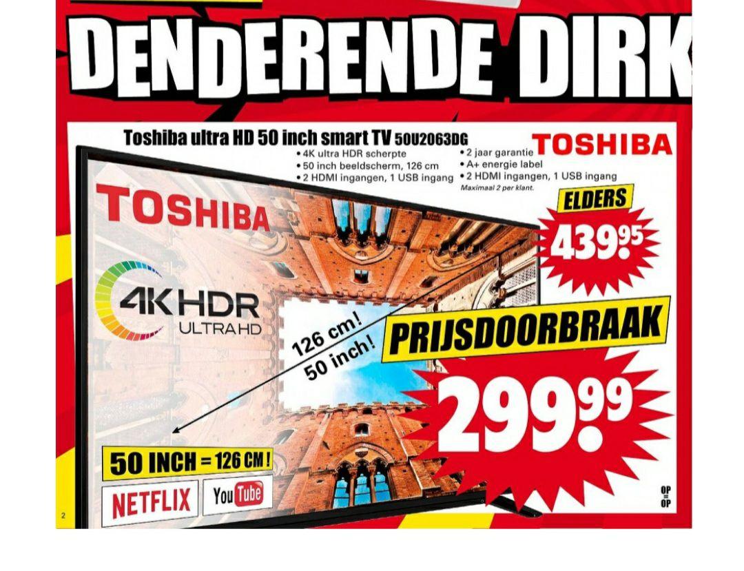 Toshiba 50 inch 4k tv Dirk van den Broek