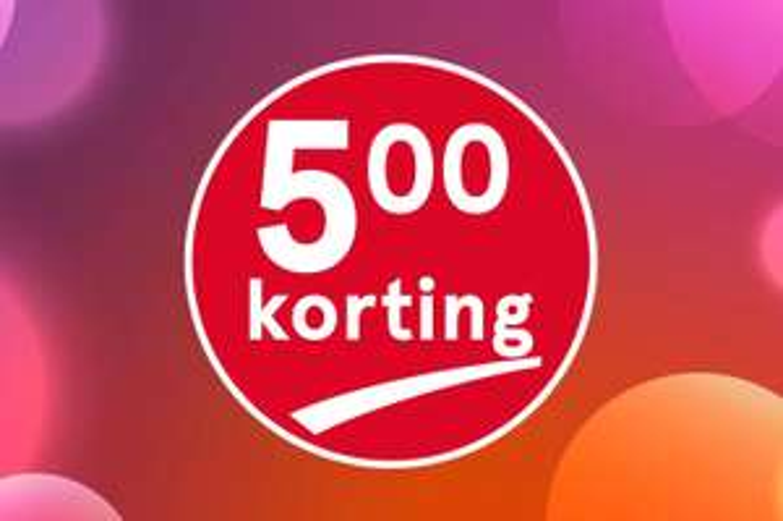 5 euro korting bij besteding van 25 euro op Etos.nl