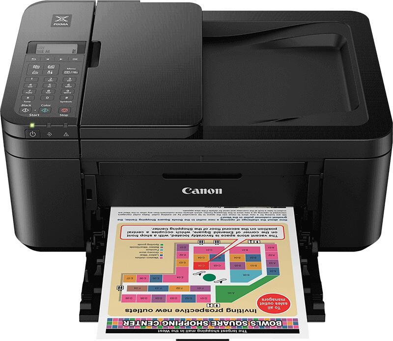 Makro: Canon Pixma TR4550 (print, kopier, scan en fax) voor 36,29 eur. -44%.