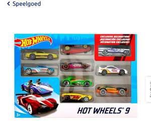 9 Hot Wheels auto's
