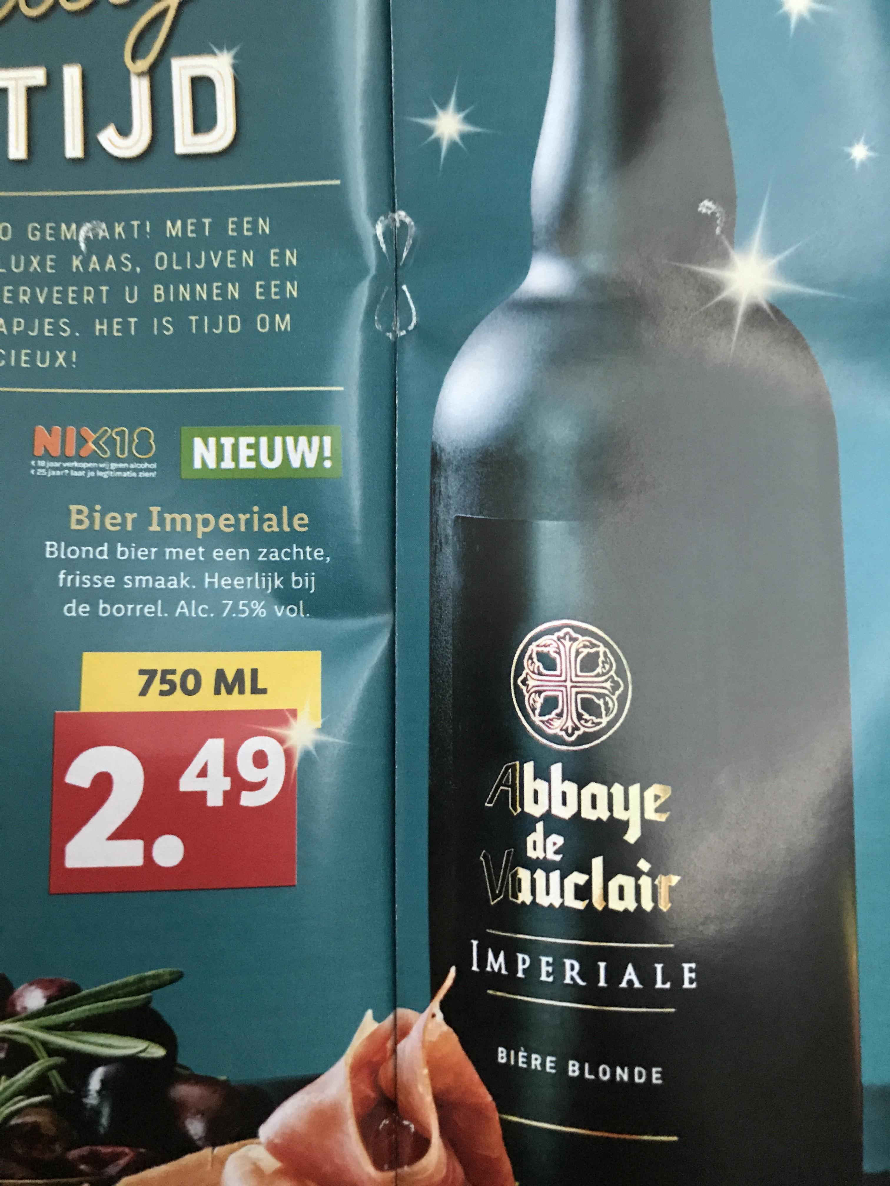Abbaye de Vauclair Imperiale biere blonde @Lidl