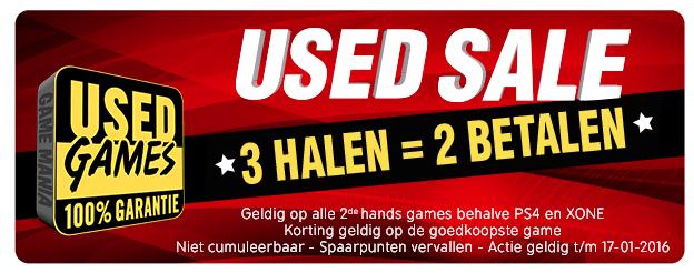 Used Sale(3 halen = 2 betalen) @ Game Mania