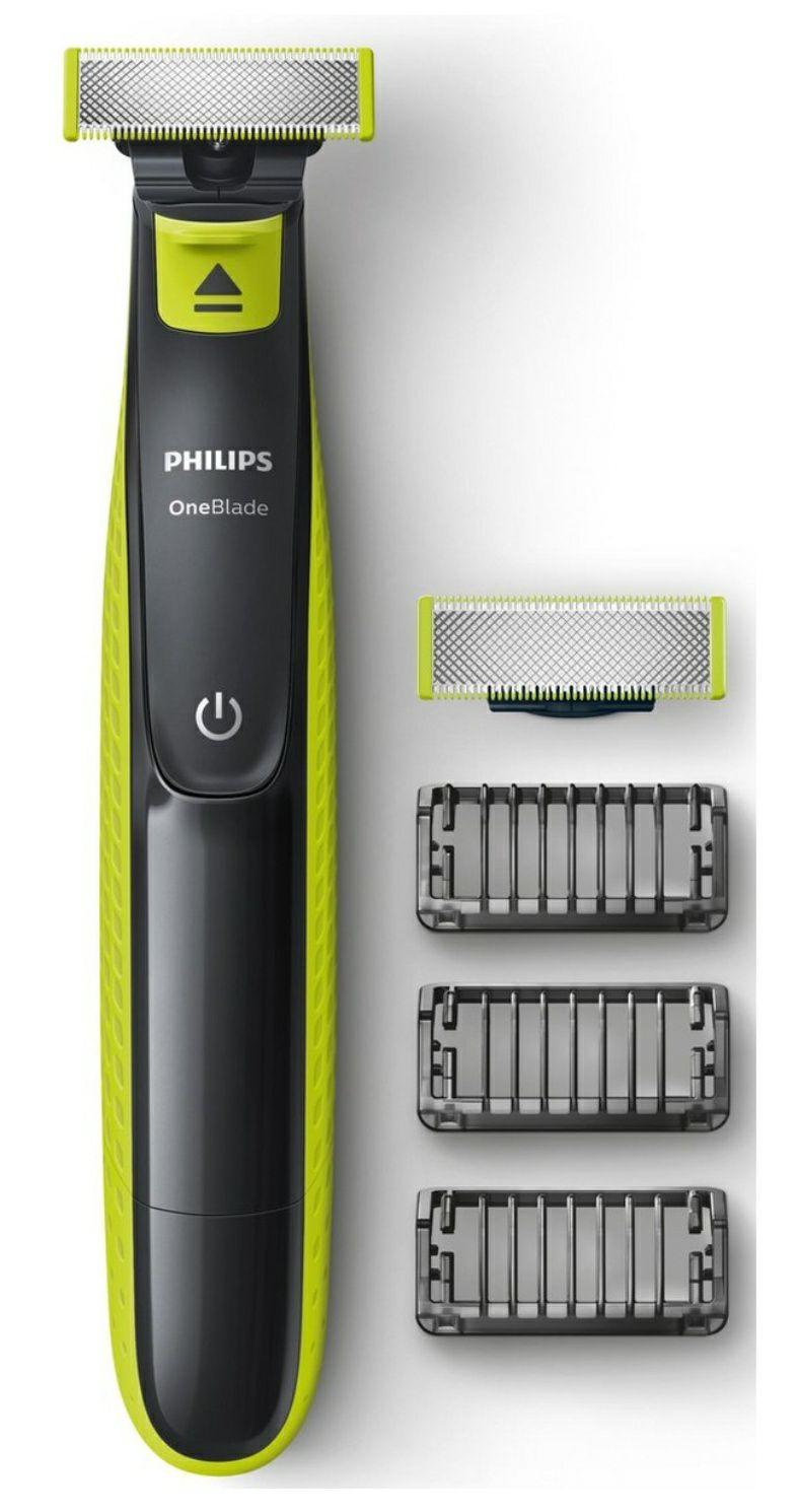 Philips OneBlade QP2520/30 met 3 opzetbare stoppelkammen en 2 mesjes