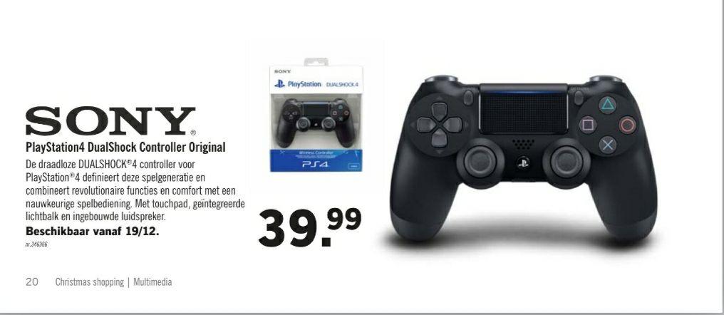 [grensdeal] Playstation 4 Controller - DualShock 4 @ Lidl België