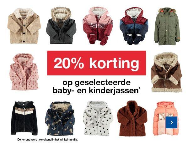 20% korting op geselecteerde baby- en kinderjassen Bij zeeman