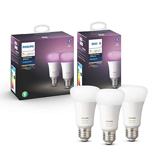 Philips Hue White & Color Ambiance Ledlamp, E27, 3 stuks, Bluetooth