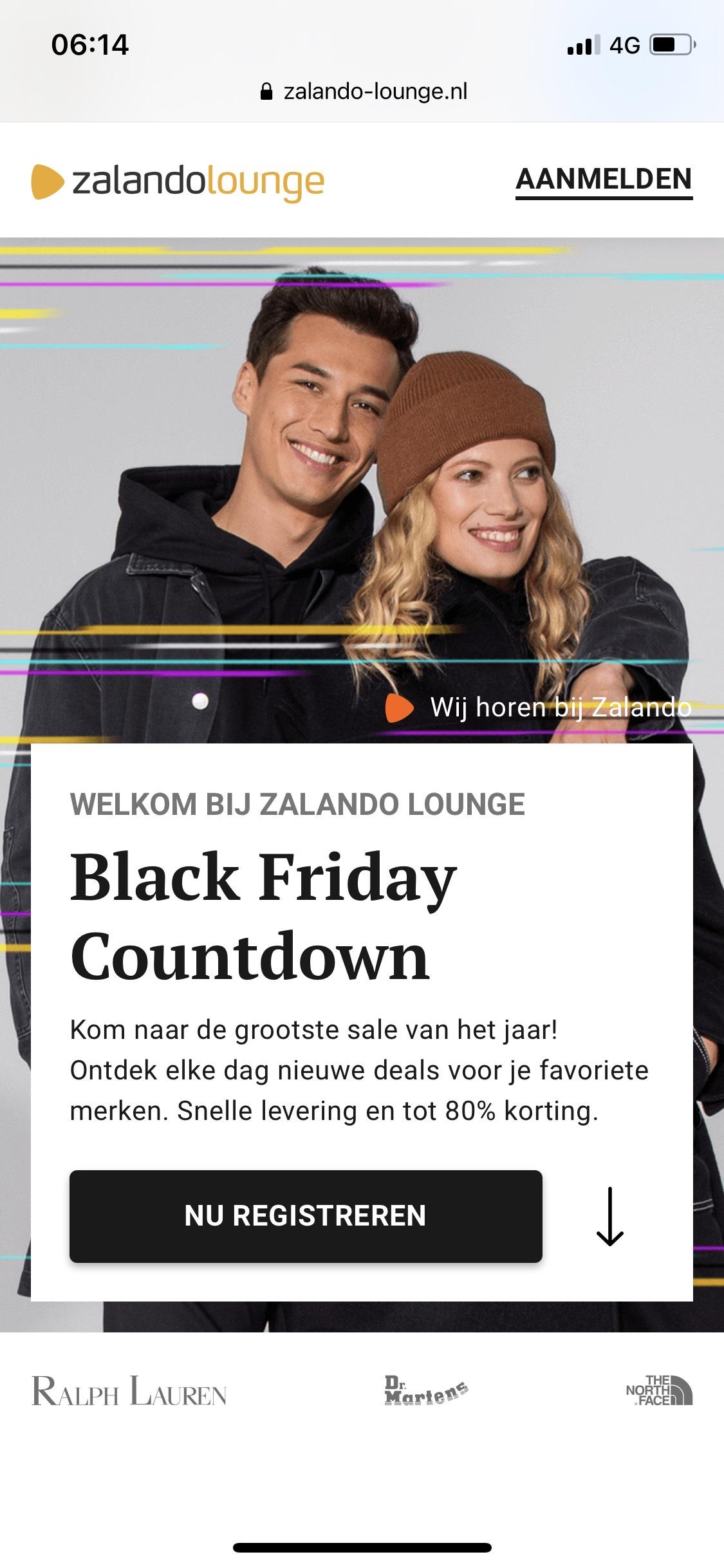 Zalando Lounge gratis verzending vanaf EUR 60