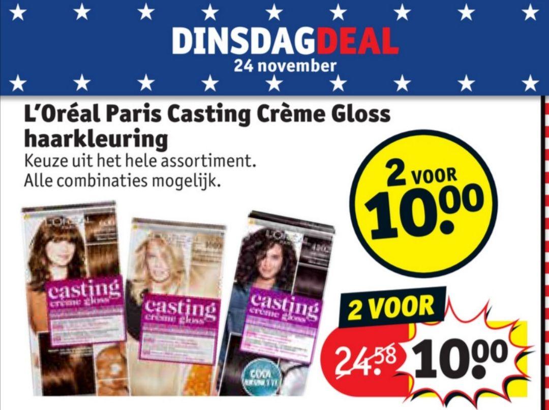 L'Oréal Paris Casting Crème Gloss 2 voor € 10 @ Kruidvat
