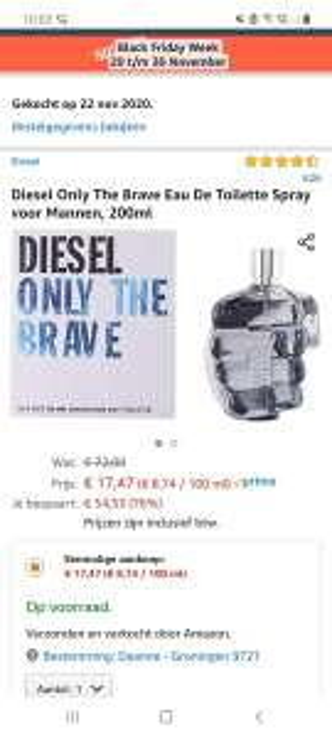 Diesel only the brave 200ml voor 17,47