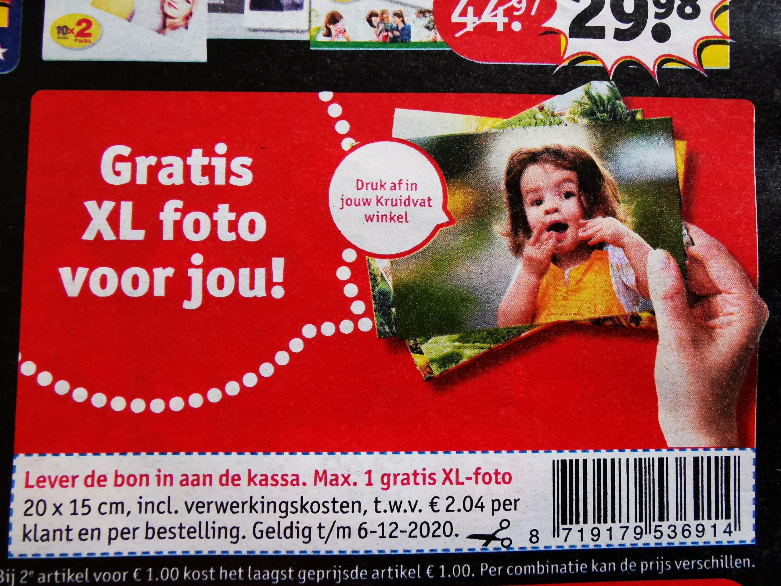 gratis XL foto van 20x15 cm @kruidvat