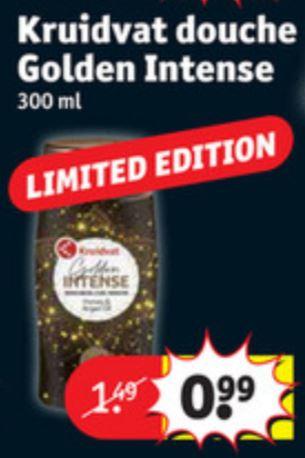 300ml Kruidvat Golden Intense Douchegel €0,99